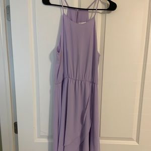 Lavender Hi Lo ruffle dress